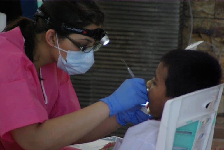 Local kids having checkups